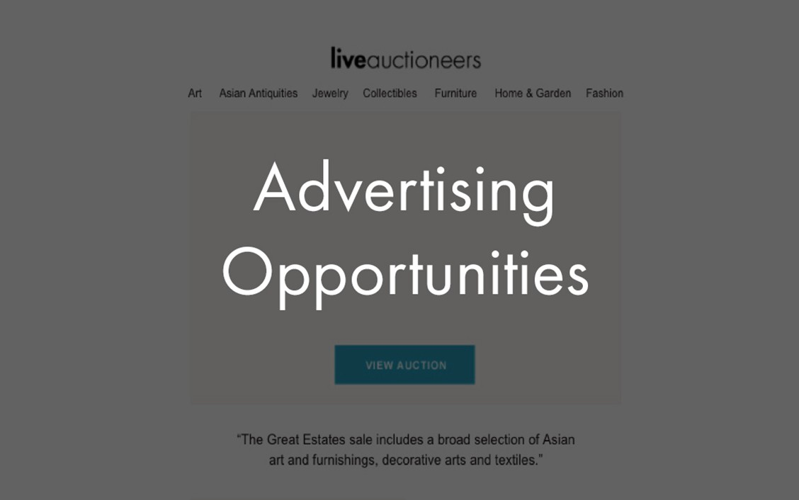 liveauctioneers advertising opportunities