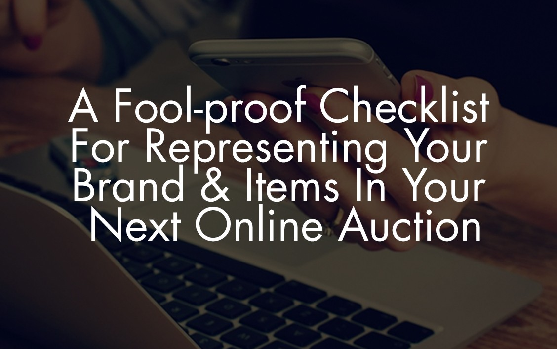 checklists for online auctions