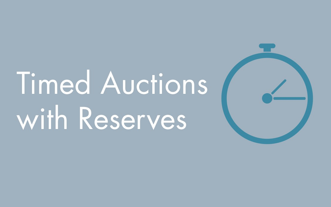 timed auctions with reserve prices