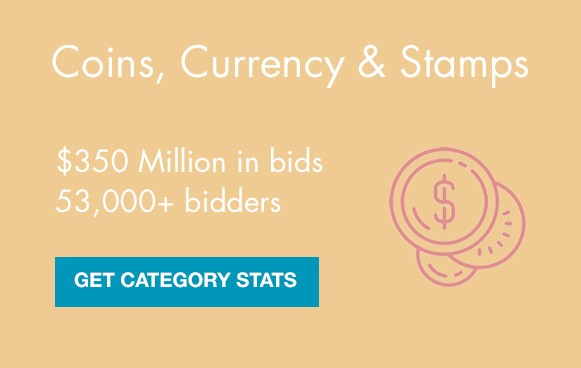 coins, currency stamps auctions on liveauctioneers