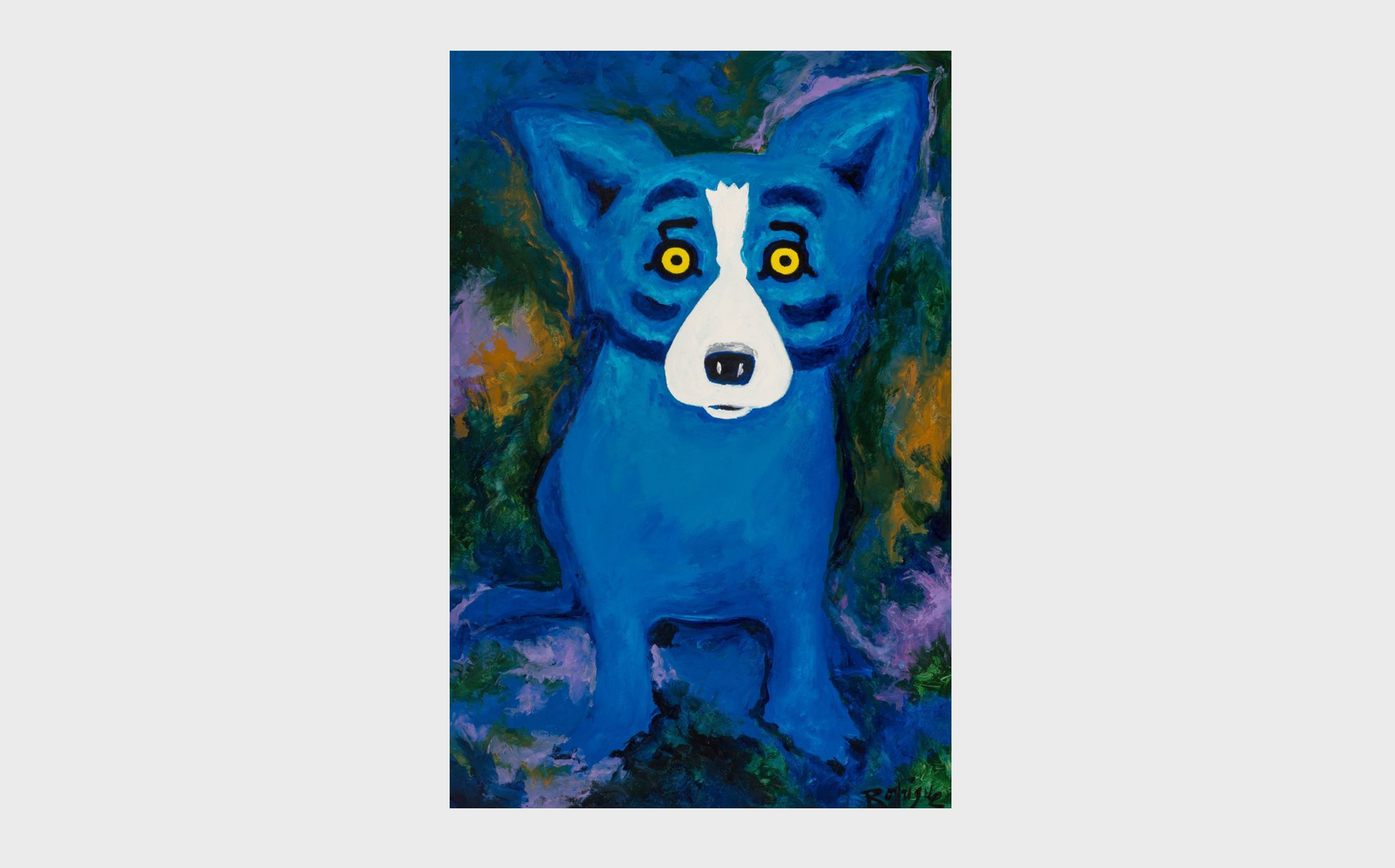 George Rodrigue (1944-2013) Swimming in the Blues