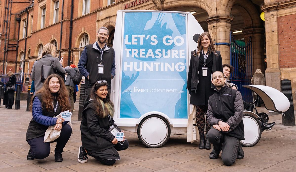 LiveAuctioneers Bike. Let's Go Treasure Hunting